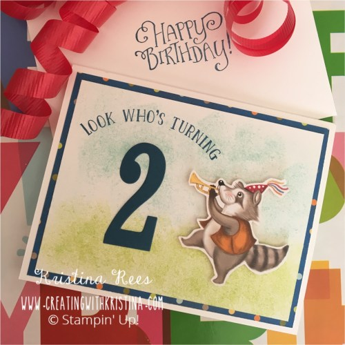 2nd Birthday Card Number of Years Look Whos Turning 2 www.creatingwithkristina.com