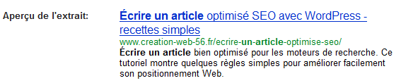 Écrire un article optimisé SEO : Avant utilisation du plugin WordPressSEO par Yoast