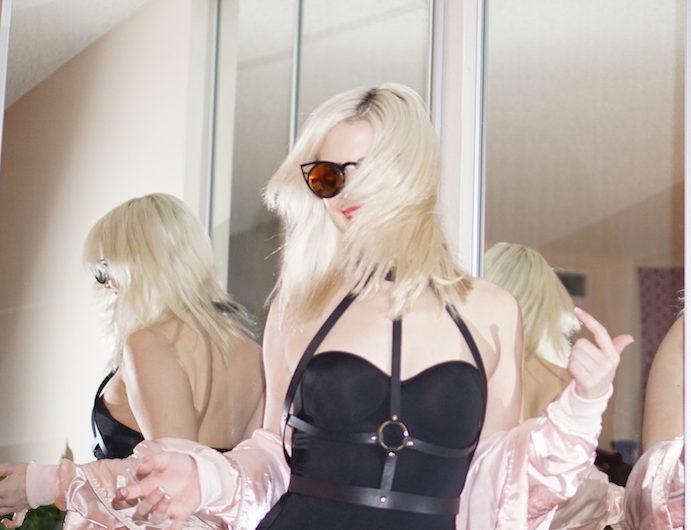 Pink Bomber Jacket | Bijoux Indiscrets | Fashion Bloggers LA | Creation Despite