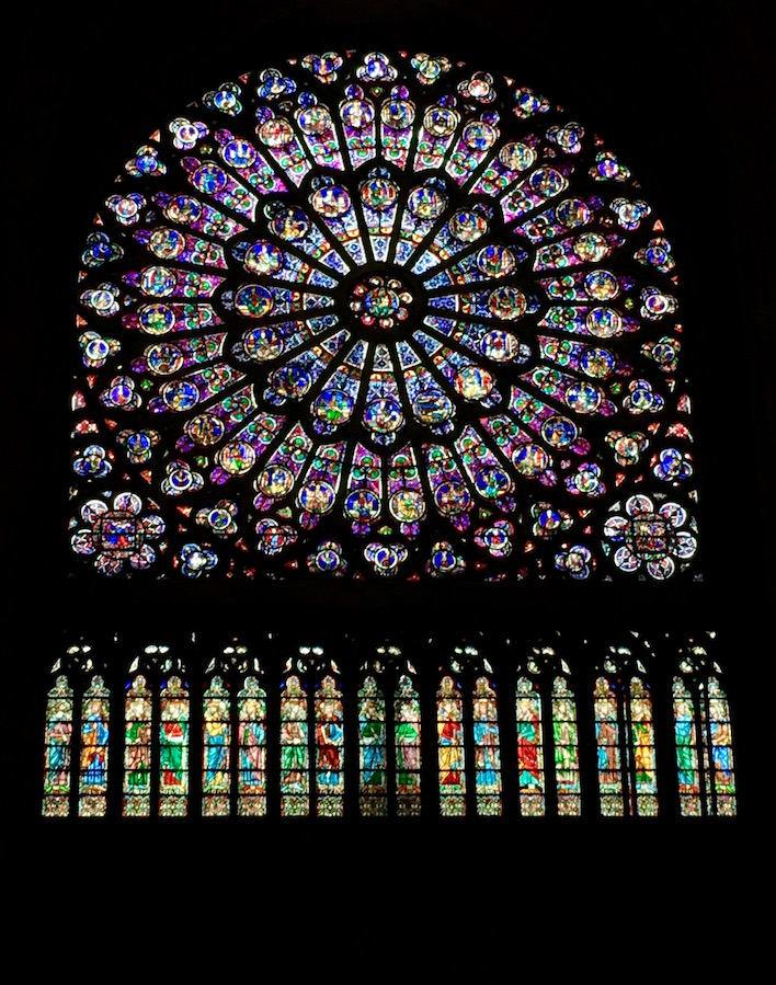 Stained Glass Rose Window Notre Dame