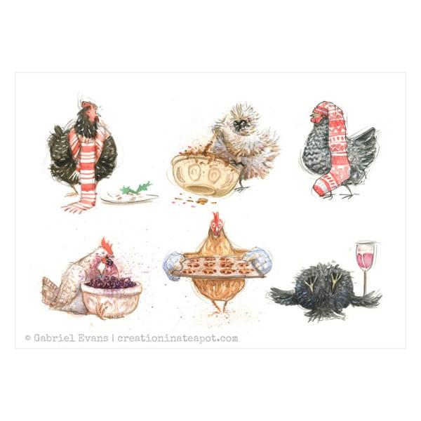 Festive Chickens