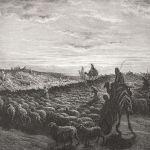 Abraham sur un chameau