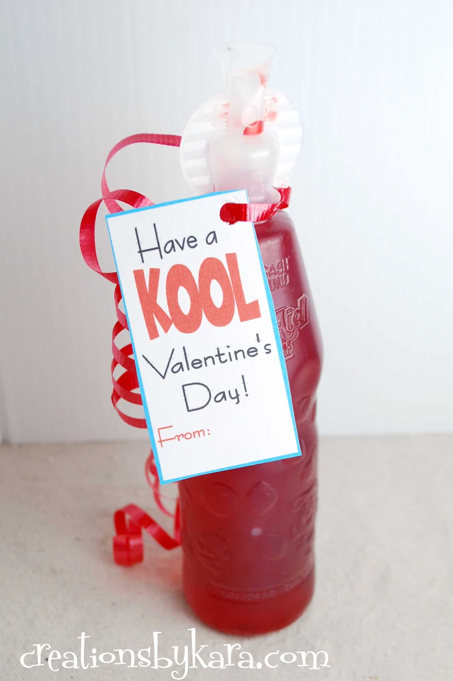 Printable Valentine Card With Kool Aid