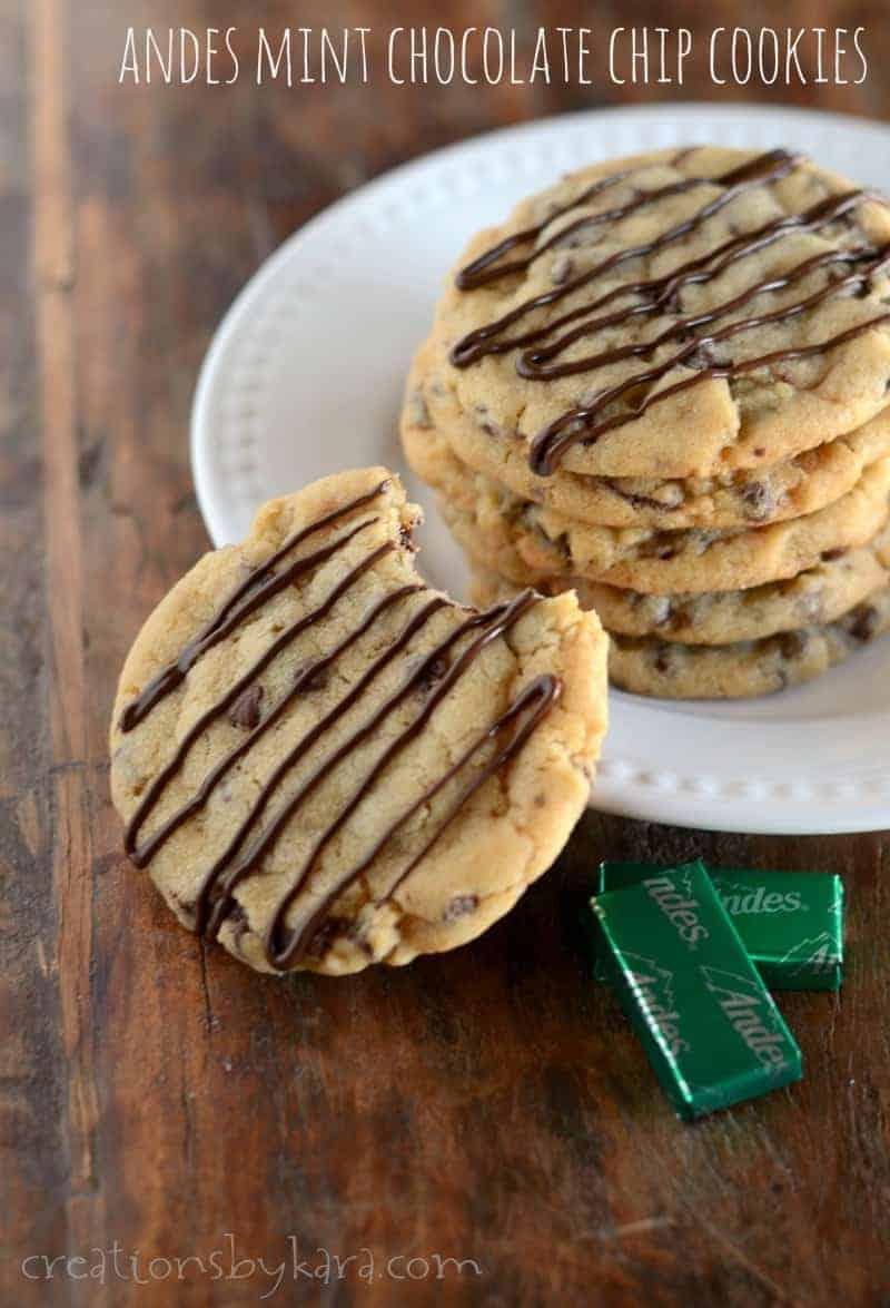 Andes Mint Chocolate Chip Cookies Creations By Kara