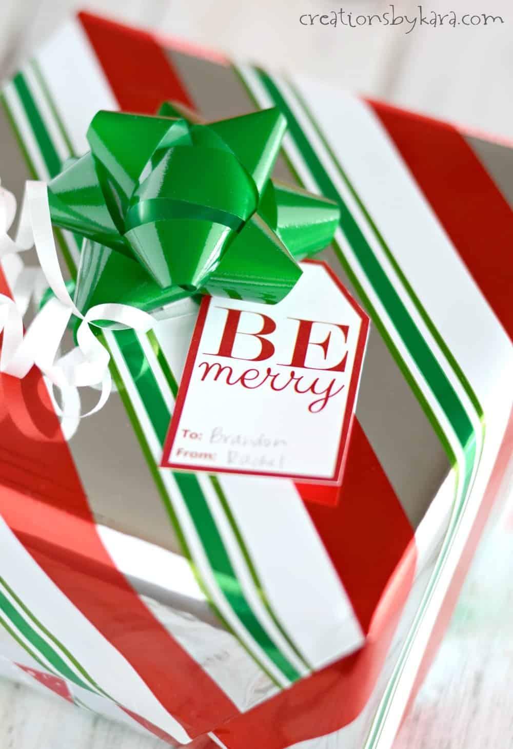 Red And White Christmas Gift Tags Free Printable