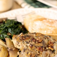 Apple and Walnut Chicken with Honey Mustard Dressing