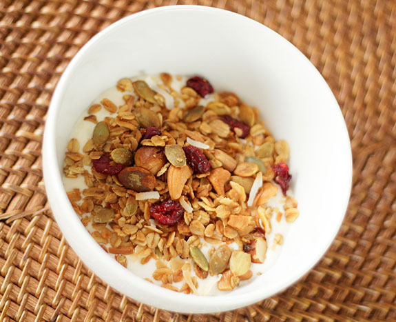 Homemade Granola with Mixed Nuts and Coconut