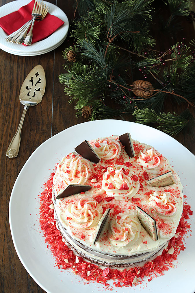 Milk Chocolate Cake with Peppermint Buttercream Frosting
