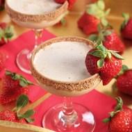 Adult Mocha Shake with Strawberries