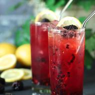 Blackberry Bourbon Collins Cocktail