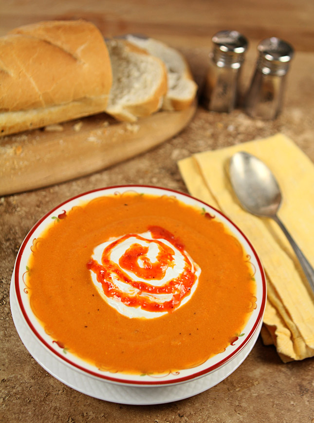 Carrot, Potato and Red Pepper Soup
