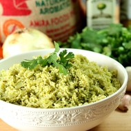 Cilantro and Serrano Pepper Mexican Rice