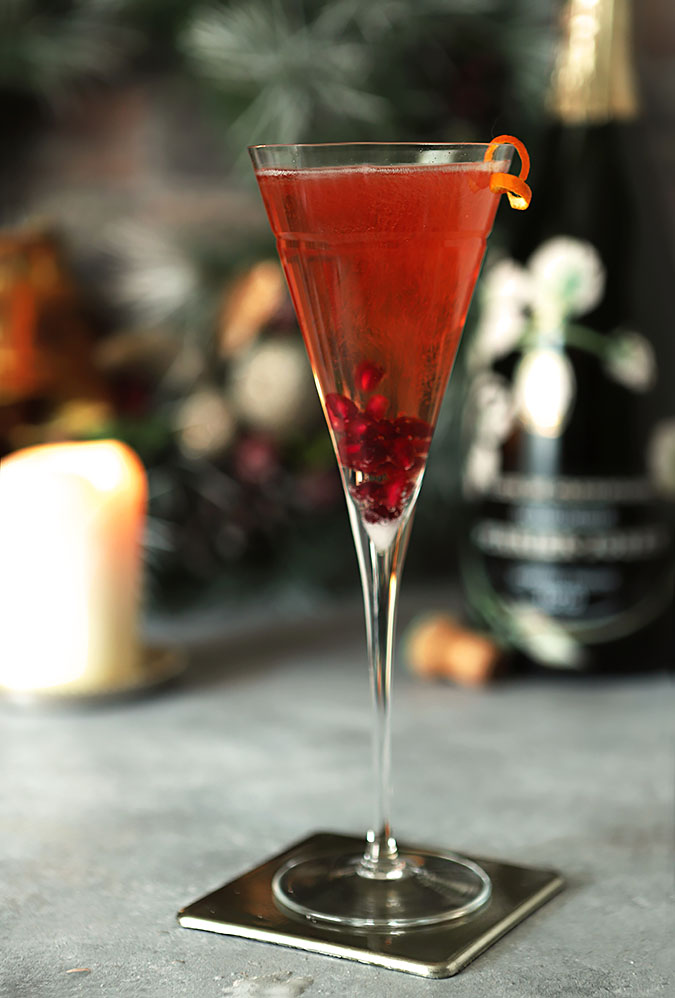 Cranberry and Grand Marnier Champagne Cocktail