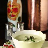 Cream of Roasted Asparagus Soup with Garlic & Parmesan