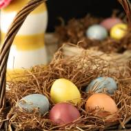 Decorated Easter Eggs with Natural Organic Dyes
