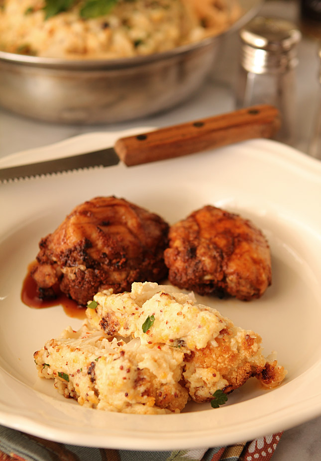 Roasted and Frosted Cauliflower | Creative-Culinary.com