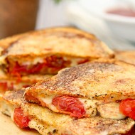 Inside Out Grilled Cheese with Tomato