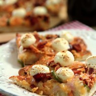Bacon, Jalapeno, and Cream Cheese Pizza