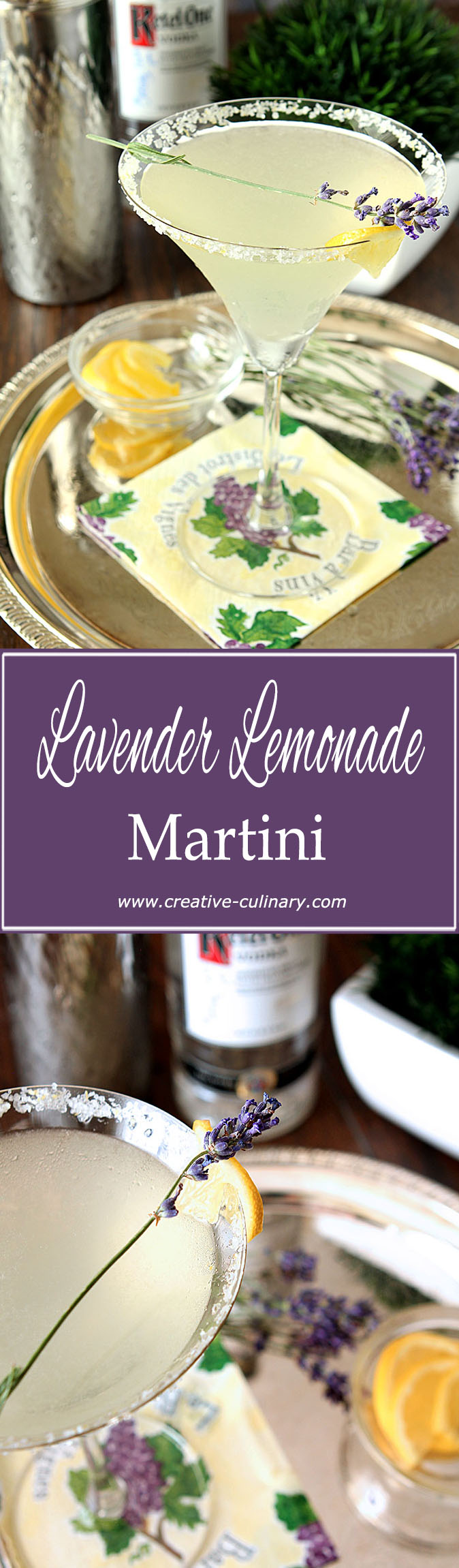 Light, Fresh and Lemony with just a hint of lavender, this Lavender Lemonade Martini is a fantastic summer libation.