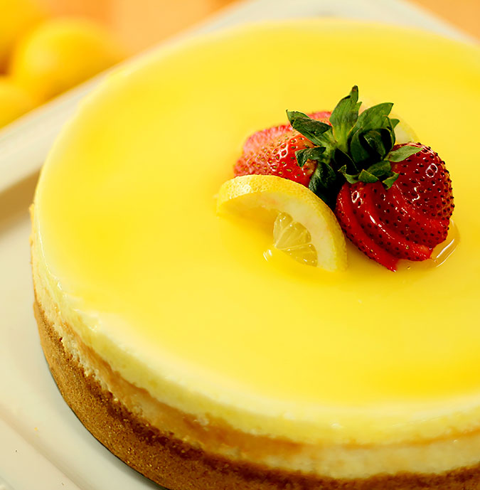 Lemon Cheesecake from Colorado Cache Junior League Cookbook