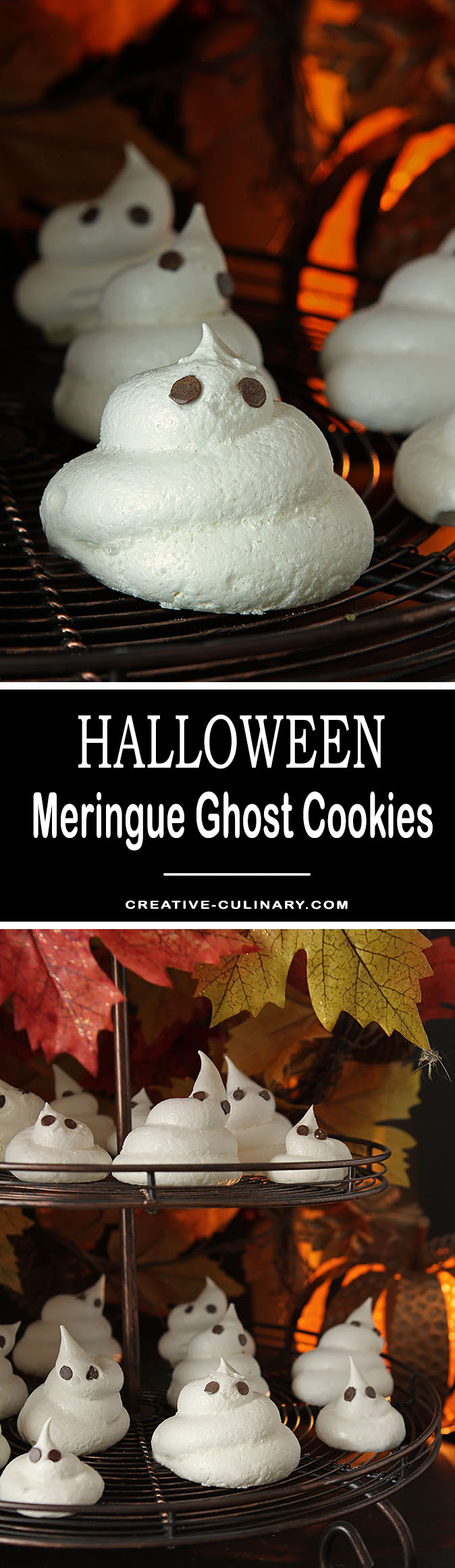 These Meringue Ghost Cookies are so easy to make; little hands can help. The perfect Halloween treat for kids of all ages!