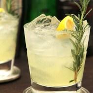 Sparkling Gin and Rosemary Lemonade