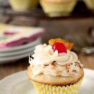 Pina Colada Cupcakes with Rum Buttercream