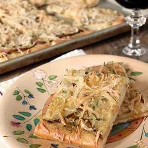 Potato Pizza with Smoked Gouda Cheese