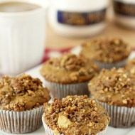 Pumpkin Spice Muffins with Molasses Walnut Crumble