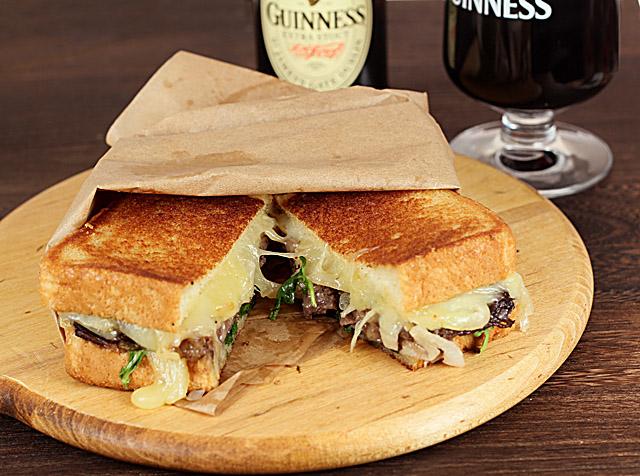 Short Rib, Caramelized Onion and Vermont Cheddar Sandwich