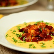 Barbeque Shrimp with Cheese Grits – A Very Southern Tradition