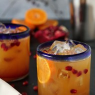 Tequila Sunrise with Homemade Grenadine Syrup