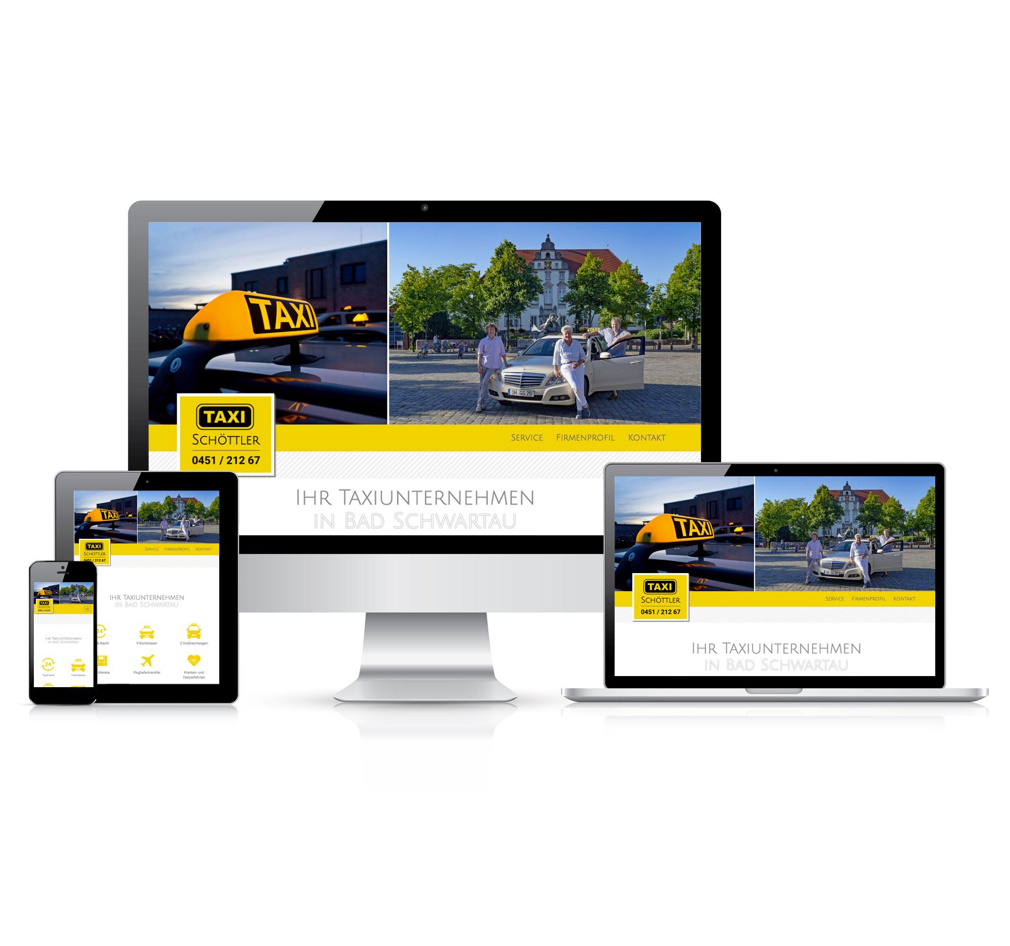 Webseite & Flyer | Taxi Schöttler