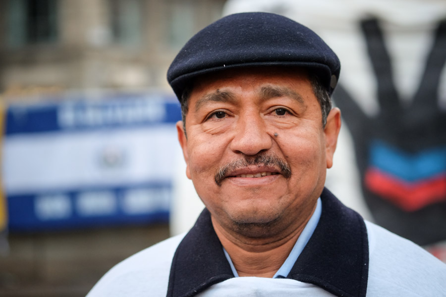 Portrait of a gentleman from El Salvador, my first stranger portrait