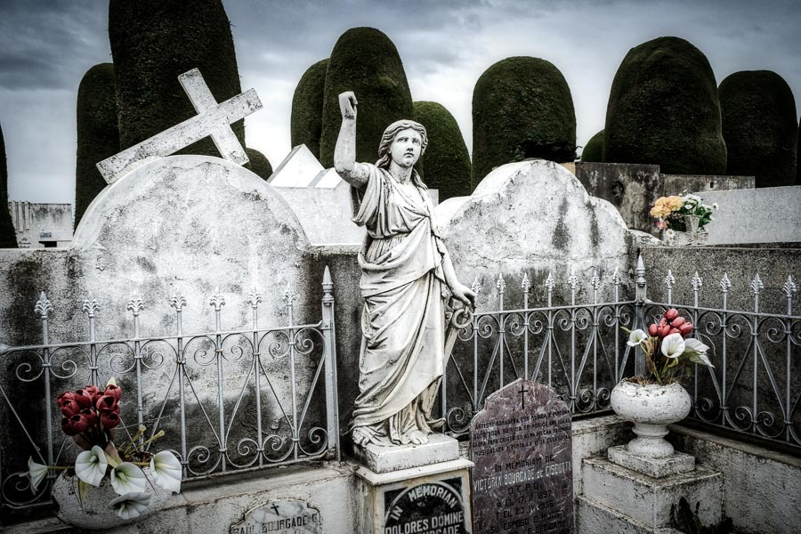 Photo of the cemetery in Punta Arenas, Chile, processed in Luminar