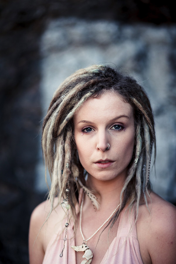 Portrait of a woman with dreadlocks
