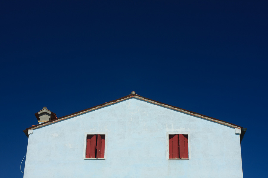 Photo of a building taken in bright sunlight