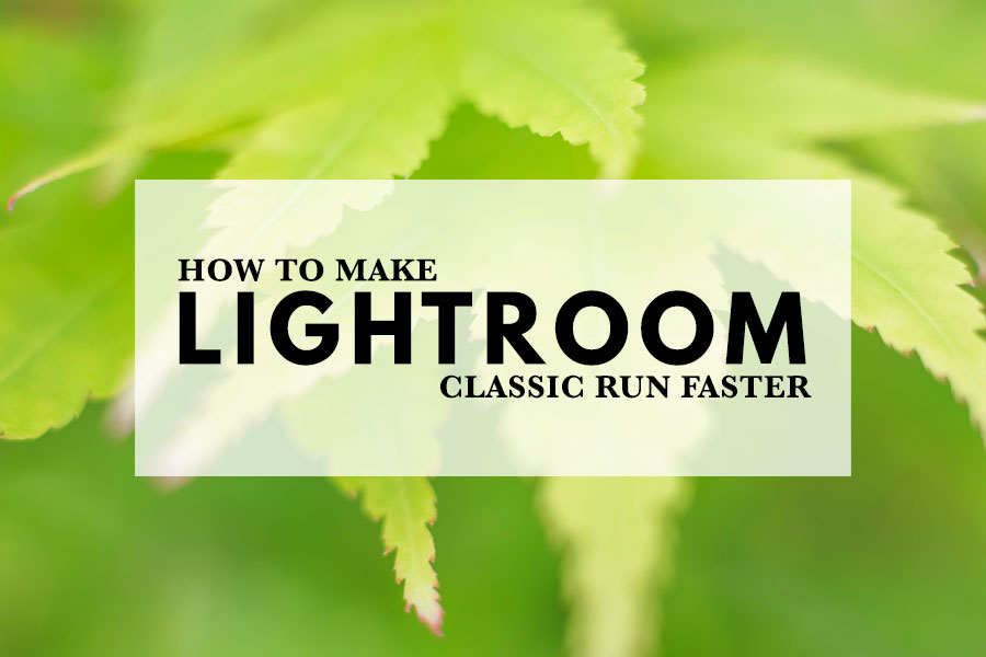 How to Make Lightroom Classic Run Faster