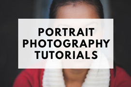 Portrait photography tutorials