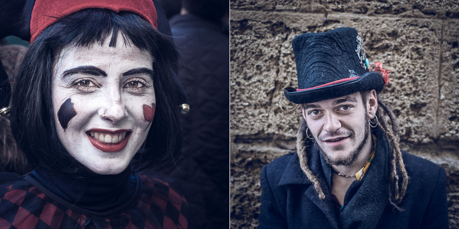 Authentic street portraits from Cadiz carnival