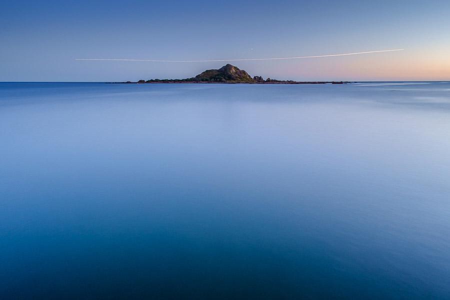 Long exposure seascape at dusk
