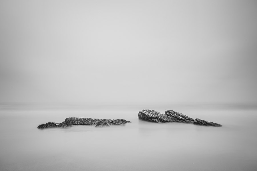 Long exposure photo with minimalist composition