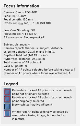 Show Focus Points Lightroom plugin