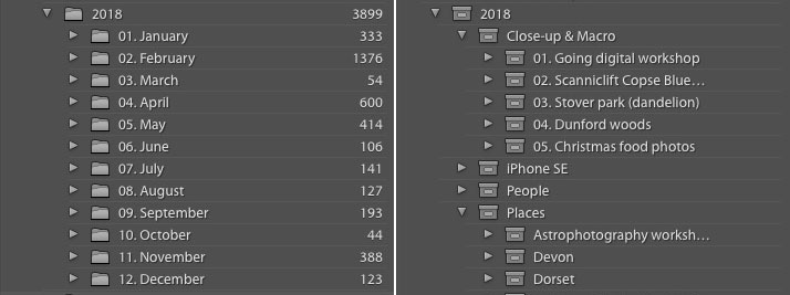Collections and folders in Lightroom