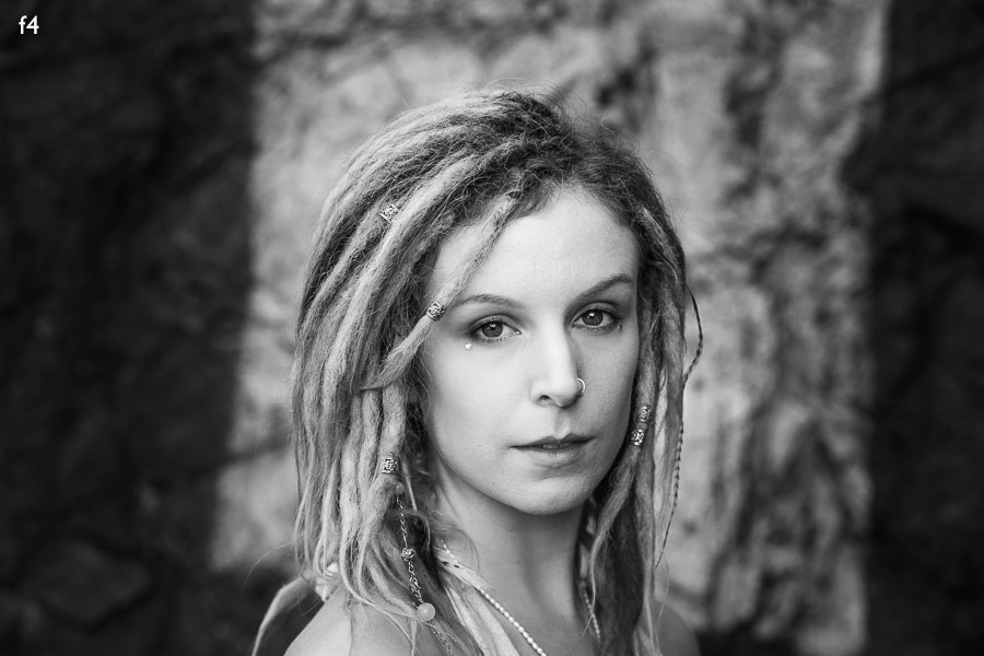 Portrait of model with dreadlocks