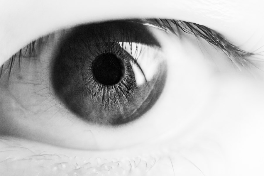 Photo of eye made with extension tube