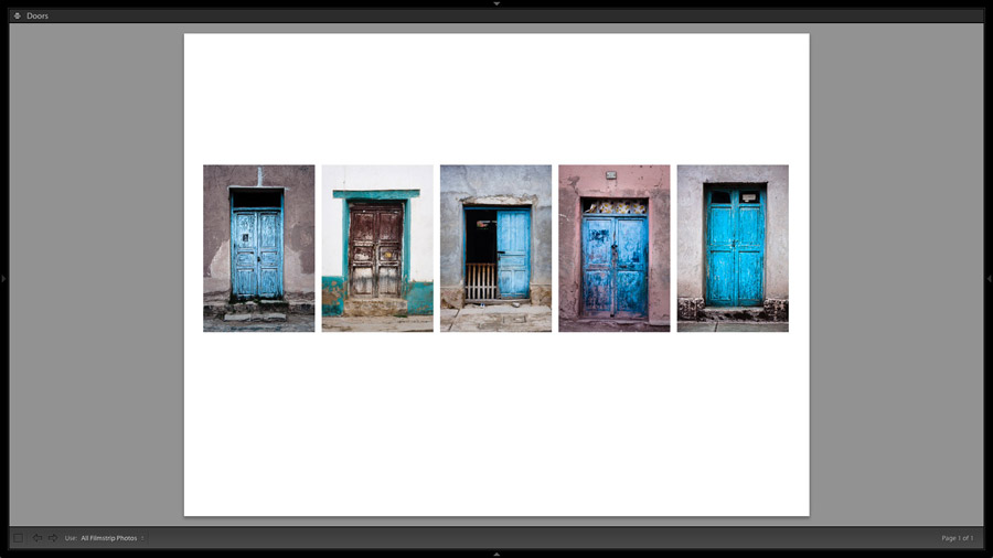 Lightroom Classic Print module layout