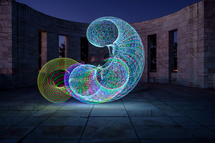 painting with light using futurehoop