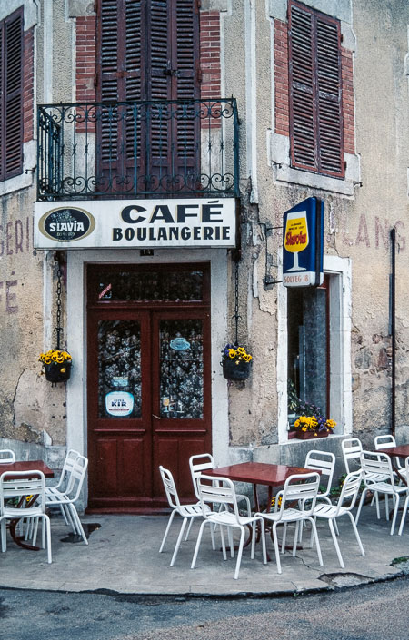 Digitized slide French cafe
