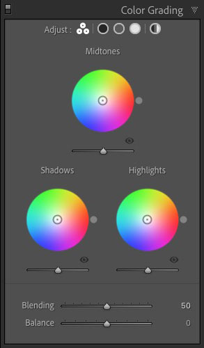Color Grading panel Lightroom Classic